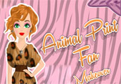 Animal Print Fan Makeover