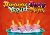 Banana Berry Yogurt Pops