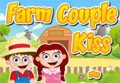 Farm Couple Kiss