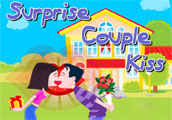 Surprise Couple Kiss